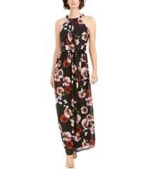 i.n.c. floral-print halter maxi dress, created for macy's