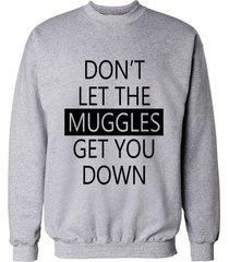 don't let muggles get you down crewneck sweatshirt light steel / heather