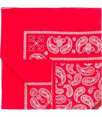 off-white marker print bandana - red
