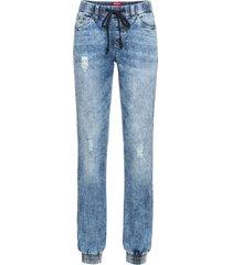leans con cinta elastica senza chiusura (blu) - john baner jeanswear