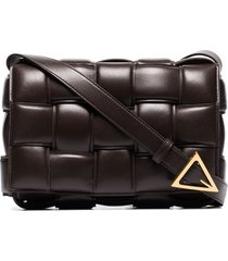 bottega veneta padded cassette crossbody bag - brown