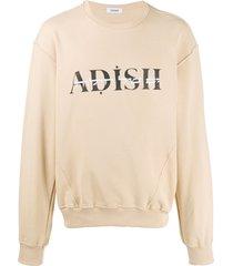 adish logo print sweatshirt - neutrals