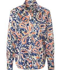 blouse in 100% katoen van eterna blauw