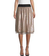 sequin knee-length skirt