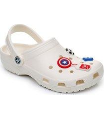 sandalias cómodas antideslizantes para mujer-blanco
