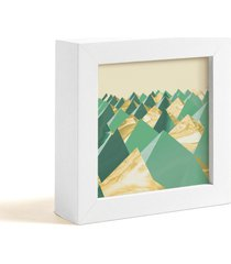 objeto decorativo decohouse moldura art verde