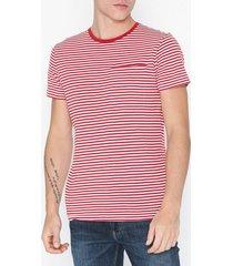 selected homme slhtim ss o-neck tee w t-shirts & linnen röd