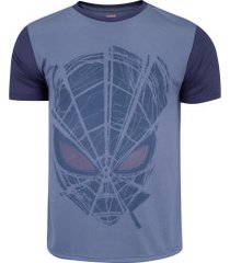 camiseta marvel homem aranha mvl037 - masculina - azul