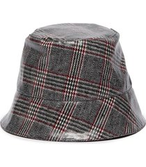 'charlie' check plaid print bucket hat
