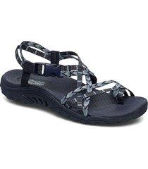 womens sandal - reggae - islander shoes summer shoes flat sandals blå skechers