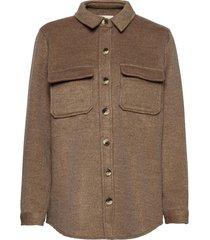 objvera owen l/s jacket noos overshirts bruin object