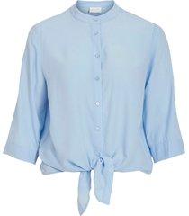 blus vithoma 3/4 tie shirt