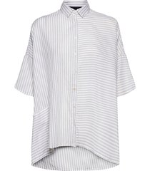 aashi shiritng short sleeve shirt kortärmad skjorta vit french connection