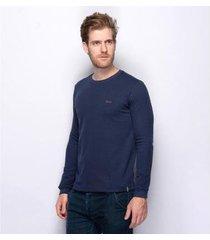 suéter teodoro slim tricot liso malha fino moderno masculino