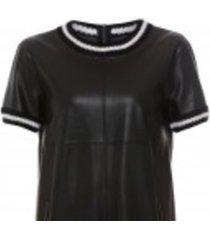 ks 48 01 j78 blouse nep-leder en strepen