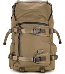 as2ov cordura dobby 305d round zip backpack - brown