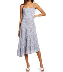 women's chelsea28 mini dot asymmetric dress, size xx-large - blue
