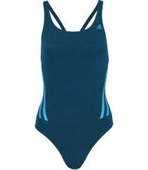 maiô para natação adidas perf swimsuit - adulto - azul esc/azul cla