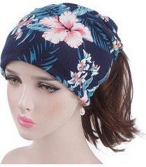 cappellino per cuffia in cotone con stampa doppia, doppio uso, confortevole fascia da giardinaggio stile vintage vogue