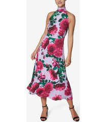 laundry by shelli segal floral-print halter midi dress