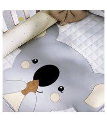 edredom bebê coala cinza estampado gráo de gente cinza