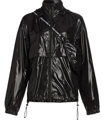 integrated fanny pack jacket, black