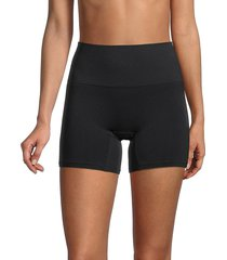 yummie by heather thomson women's high-waist shaping shorts - nude - size s/m
