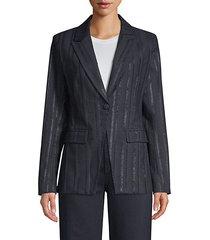 keats metallic blazer