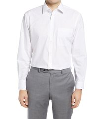 men's big & tall nordstrom traditional fit non-iron dobby dot dress shirt, size 16 - 36/37 - blue