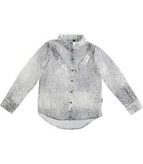 retour polyester blouse cream black
