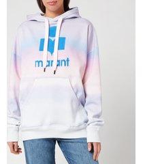 isabel marant étoile women's mansel multi hoodie - blue/pink - fr 36/uk 8