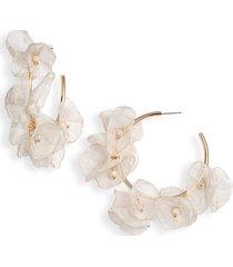 women's stella + ruby chiffon petal hoop earrings