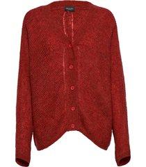 5194 - silje cardigan gebreide trui cardigan rood sand