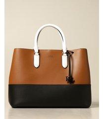 lauren ralph lauren handbag lauren ralph lauren handbag in bicolor leather