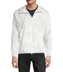 theory men's joakim marble-print nylon jacket - smoke - size xxl