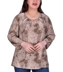 ny collection women's plus size long sleeve tunic