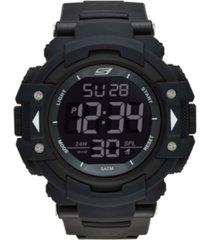 skechers men's keats oversized strap watch 55mm