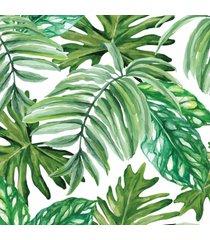 papel de parede folhagem verde 57x270cm - verde - dafiti