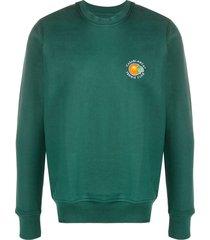 casablanca orange tennis club sweatshirt - green