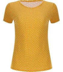 camiseta amarilla con pepas color amarillo, talla l