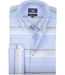 state of art shirt blauw met borstzak