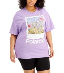mighty fine trendy plus size polaroid t-shirt