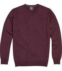 jos. a. bank traveler men's purple wine modern fit merino sweater - size: 6xlt