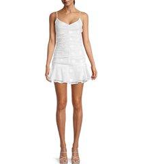 4si3nna women's mercedes ruched mini dress - ivory - size m