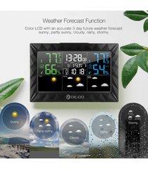 alarma digoo dg-8270a reloj digital estación meteorológica previsión del sueño automáticamente la temperatura digital 3 canales de alarma del reloj pantalla lcd - negro