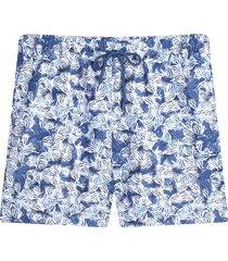bermuda para hombre playa estampada color azul, talla m