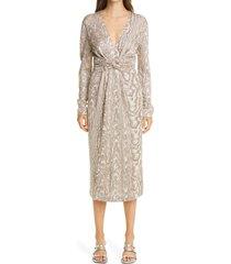 women's missoni wood grain pattern knit dress