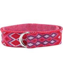 isabel marant d-ring cotton belt - red