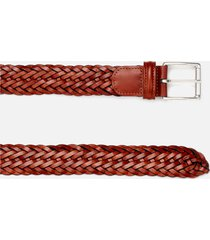 anderson's men's woven leather belt - brown - w34/l