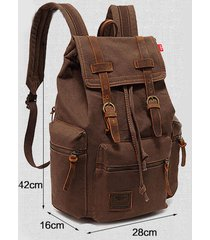 vintage canvas backpack rucksack travel sports satchel school hiking bag